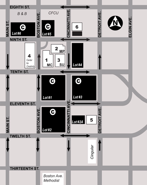 Parking Map for Metro Campus