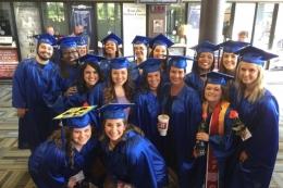 TCC students at graduation