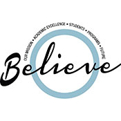 Believe in TCC logo.